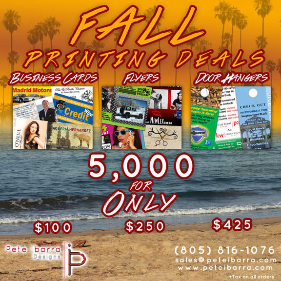 Business Cards, Flyers, Door Hangers, Fall Printing Special, Marketing tools